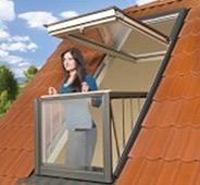 Балкон на мансардной крыше.